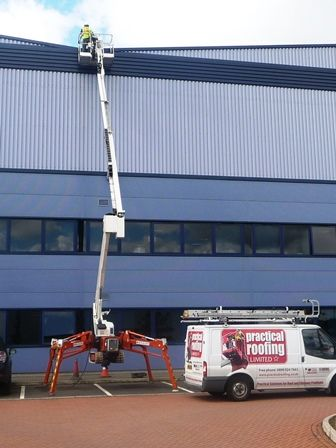 High Level Access Equipment by Birmingham Industrial Roofing